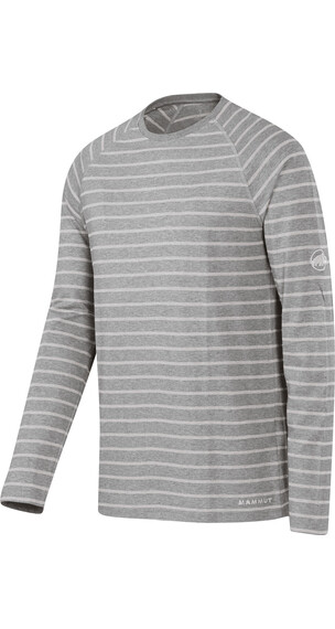 Mammut Crag Longsleeve Shirt Men stone grey melange-light grey melange